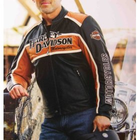 Harley Davidson Jacket  Men's Classic Cruiser Leather #98118-08VM