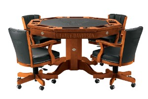 Harley Davidson Collectible Poker Table and Chairs