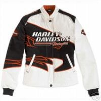 Harley Davidson Womens Jacket | Screamin' Eagle Twill White and Black, 98230-06VW