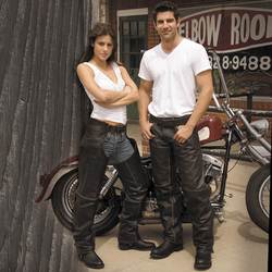 River Road Vintage Leather Chaps | Motorcycle Pants