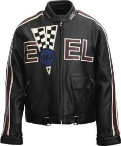Evel Knievel Checkered V Jacket