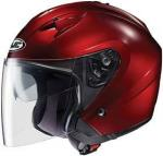 HJC Open Face Helmet | Polycarbonate Red Wine IS-33