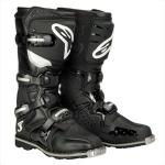 Mens Motocross Alpinestars Boots, Armored | Black Suede Leather Tech 3