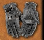 River Road Mens Cruiser Gloves, Retro | Distressed Brown Leather Outlaw