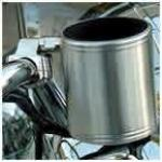 Kruzer Kaddy Cup Holder | Chrome Stainless Steel Handlebar Mount