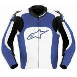 Alpinestars MX-1 Motorcycle Jacket | Mens Black Leather Armored Neoprene