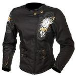 Teknic Diamond Armored Jacket for Women, Black Cordura | Waterproof Quilted Long Sleeve Liner