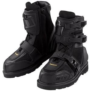 Icon Mens Short Black Motorcycle Boots,