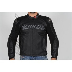 Dainese Santa Monica Mens Black Leather