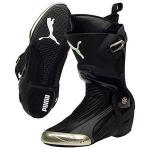 Puma Mens Motorcycle Race Boots, 1000 V2 | Flexible Automatic Armor in Black, Red, Yellow
