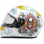 Ed Hardy Pirate Helmet VR-2 | KBC Full Face White or Black Signature Collection