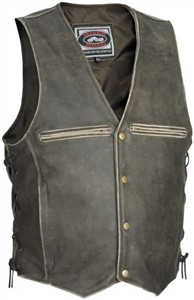 River Road Motorcycle Vest, Distressed