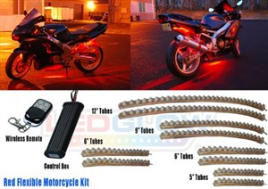 Motorcycle LED Red Light Kit by LedGlow