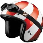 SparX Peppermint Pearl w/ Retro Goggles | Open Face Touring Motorcycle Helmet