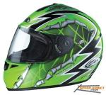 Zox Tavani Graphic Helmet, Full Face Green | Street MX Motorcycle R Ripper II
