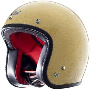Rockhard Gold Open Face Motorcycle