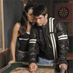 River Road Roadster Men's Jacket | Vintage Motorcycle Distressed Black Leather, Vented w/ Liner