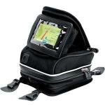 Firstgear Laguna GPS Motorcycle Tank Bag | Waterproof Biker Fanny Pack, Mini Black PVC Nylon