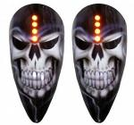 Pig Spotter 2 Reaper Mirror Kit | Skull Carbon Fiber LED Turn Signal by ST Machine