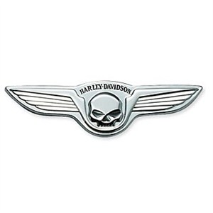 Willie G. Skull Chrome Wings Medallion