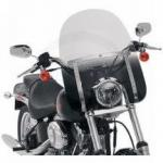 Memphis Shades Slim Windshield & Cutout | Cruiser Motorcycle Wind Deflector 7 Inch