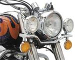 Cobra Lightbar Motorcycle Headlights Kit | Triple Chrome Style A 04-0326