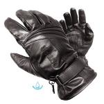 Olympia Monsoon Motorcycle Gloves | Men's Classic Black Waterproof Leather