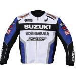 Joe Rocket Suzuki SuperSport Motorcycle Jacket | Armored GSXR  White, Blue, Orange, Red & Black