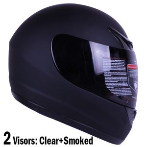 Full Face Black Motorcycle Helmet,